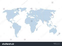 Map Of The World Background Map World Background Dots Pattern World Stock Vector Royalty Free
