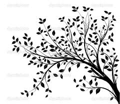 tree branch with leaves vector. stock vector : tree branches silhouette isolated over white background with lot of leaves, border a page branch leaves