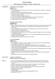 Qa Qc Engineer Resume Samples Velvet Jobs