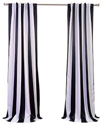 Wonderful Black And White Curtains Awning Stripe Blackout Curtain Decor