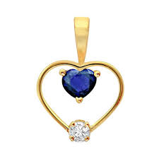 surat diamond 0 10 cts one diamond studded in heart shaped pendant p60