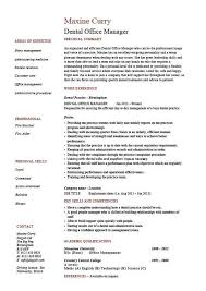 Dental Office Manager Resume, Example, Sample, Template, Dentist