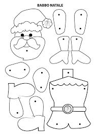 Babbo Natale da ritagliare, costruire e colorare