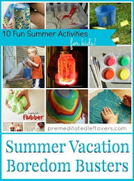 Image result for summer vacation  activities for children