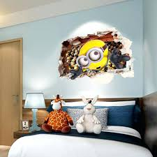 minion wall stickers full size of wall decor personalised minion wall art together with minion minion
