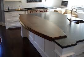 wide plank wood countertop ellipse shaped walnut countertop