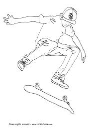 25 Dessins De Coloriage Skateboard Imprimer