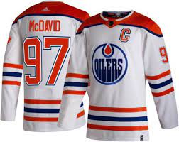 Score an officially licensed edmonton oilers jersey, oilers ice hockey sweaters and more for all hockey fans. Adidas Men S Edmonton Oilers Connor Mcdavid 97 Reverse Retro Adizero Authentic Jersey Dick S Sporting Goods