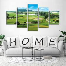 strikingly design ideas clearance wall art home miles golf course 5 panels stretched and framed contemporary on golf wall art uk with clearance wall art japs fo