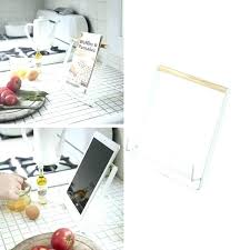 recipe book holder kitchen luxury metal racks stand cookbook mobile rack doent holders wood and