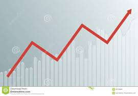Abstract Business Chart With Uptrend Line Graph Bar Chart