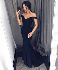 Long Designer Prom Dress With A Trumpet Skirt Trumpet Skirt Off Shoulder Prom Dress Sweetheart Satin Maxi