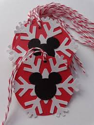 10 Mickey Mouse Christmas Gift Tags - Holiday Tags - Red Bakers Twine -  White Snowflakes - Gift Wrapping Packaging - Party Favor Tags | Disney  christmas crafts, Mickey mouse christmas, Disney christmas gifts