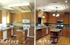 simple change kitchen nicer originally looked removing large fluorescent box replace light fixture how to with