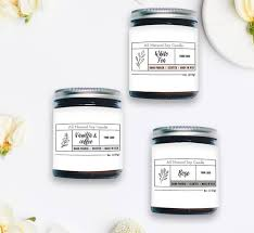 Package Label Template Stunning Candle Label Template Custom Label Design Product Packaging Etsy