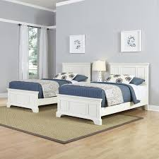 Two Twin Beds 3 Piece Bedroom Set in White - 5530-4024