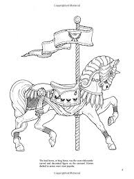Small Picture 71 best carousel coloring images on Pinterest Carousel horses