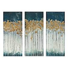 madison park midnight forest 3 piece canvas wall art on winter blooms ii canvas wall art with wall art canvas wall art modern wall art bed bath beyond