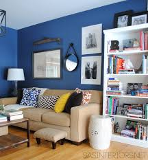 Yellow And Blue Living Room A Newly Designed Home Office Family Room Jenna Burger