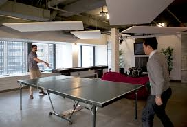 interior cute green folding wooden ping pong table with excerpt unique office space ideas restaurant blue white office space