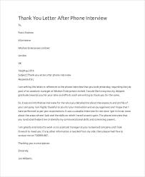 Thank You Letter After Phone Interview2