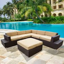 image of wicker sectional outdoor furniture patio black outdoor furniture