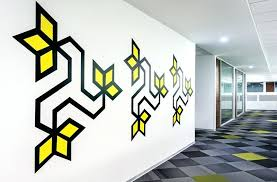wallpaper designs for office. All The Wall Graphics In This Office Were Inspired By Folk Art Graphic Designs Wallpaper Music For