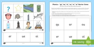 Phonics worksheets and online activities. Phonics Qu Ou Oi Ue Er Ar Barrier