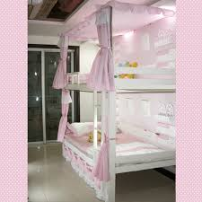 Loft Bed Curtain Ideas kid s room with canopy bunk bed chalkboard