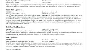 Nanny Resume Samples Sample Templates Job Description Tutor ...