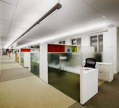 Office:Stylish Office Design Ideas In Cool Grey And Orange Colors Modern  Cool Office Cubicle