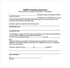Sublease Agreement Samples Download Our Sample Of Sublease Agreement 18 Download Free Documents