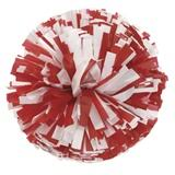 Plastic Cheerleader Pom-Poms - 4 in. Two Color Mix with Baton Handle School Spirit Pom Poms for Sale | Anderson\u0027s