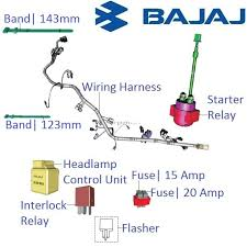 bajaj pulsar 200ns main wiring harness and realys with fuses main wiring harness for cbr929rr Main Wiring Harness #49