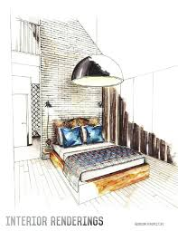 interior designers drawings. 736x952 Drawn Office Interior Design Designers Drawings