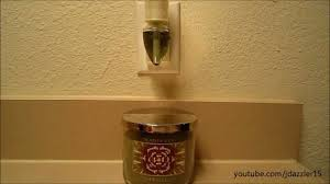 how do bath and body works wallflowers work bath body works evergreen review candle wallflower youtube