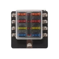12 volt fuse block ebay blue sea relay block at Dc Fuse Box