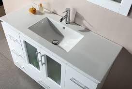 48 inch white vanity 55 inch double sink