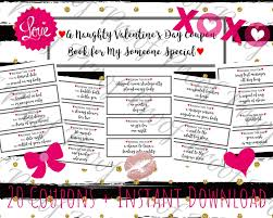 Relationship Coupon Book Printable Naughty Coupon Book Naughty Valentines Day Gift For Etsy