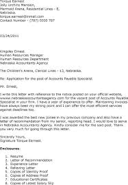 Cover Letter Examples For Accounting Specialist Cover Letter