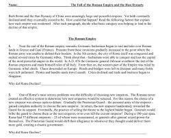 Venn Diagram Of Roman Republic And Roman Empire Fall Of Roman Empire And Han Dynasty Comparison Lesson