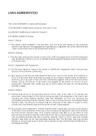 Loan agreement template includes information on borrower, lender, loan, terms and conditions and a signature for both parties. Simple Loan Agreement Template 3 Pdfsimpli