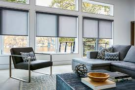 ... Light Grey And Black Rectangle Modern Fabric Gray Blinds Shades Stained  Design: Amusing ...