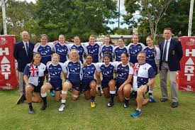 the royal australian navy women s rugby team have emerged victorious from their first game of the