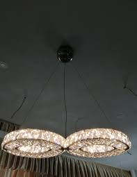 led large chandeliers ceiling hanginglight ring dinning room crystal pendant light