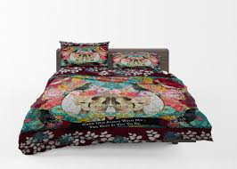 skull comforter grow old with me skull skulls masterbedroom decor duvet cover skull bedding day of the dead bedding rug