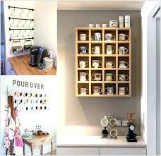 coffee mug wall rack mounted holder uk wall mount cup holder with bird coffee mug