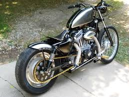 bobber with chain drive conversion and swingarm mounted fender