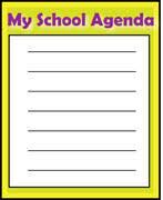 School Agenda Clipart