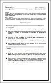 Nursing Resumes Objectives Resume Supervisor Manager Example Nurse